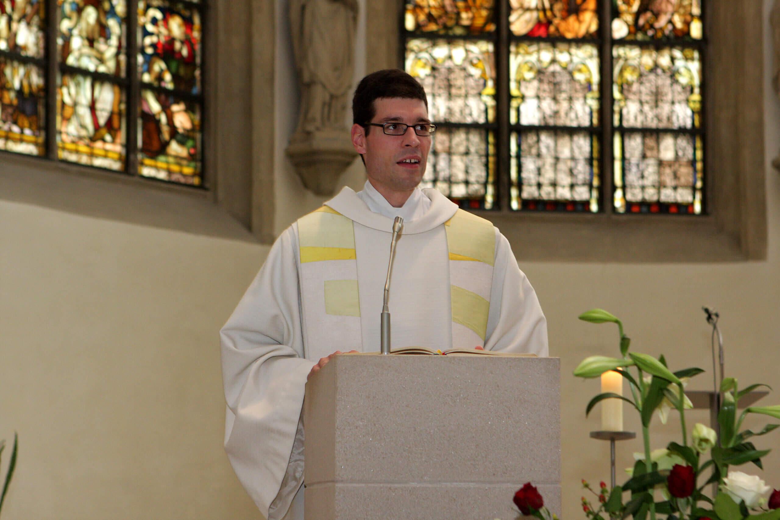 Stefan Hörstrup in der St. Christophorus Kirche - als