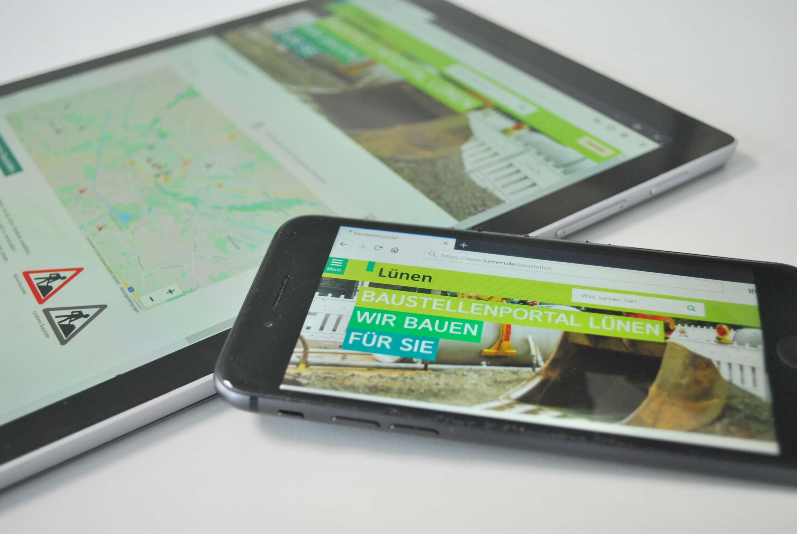 Das Online-Baustellenportal ist der zentrale Baustein des gemeinsamen Baustellenmanagements der Stadt Lünen, des Stadtbetriebs Abwasserbeseitigung Lünen sowie der Stadtwerke Lünen. Foto: Stadt Lünen