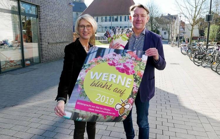 2019 waren Carolin Brautlecht und Quartiersmanager Wolfgang Bille beim Projekt