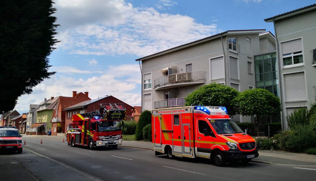 Der Löschzug 1 Stadtmitte der Freiwilligen Feuerwehr Werne wurde am Samstagnachmittag um 14:08 Uhr mit dem Einsatzstichwort