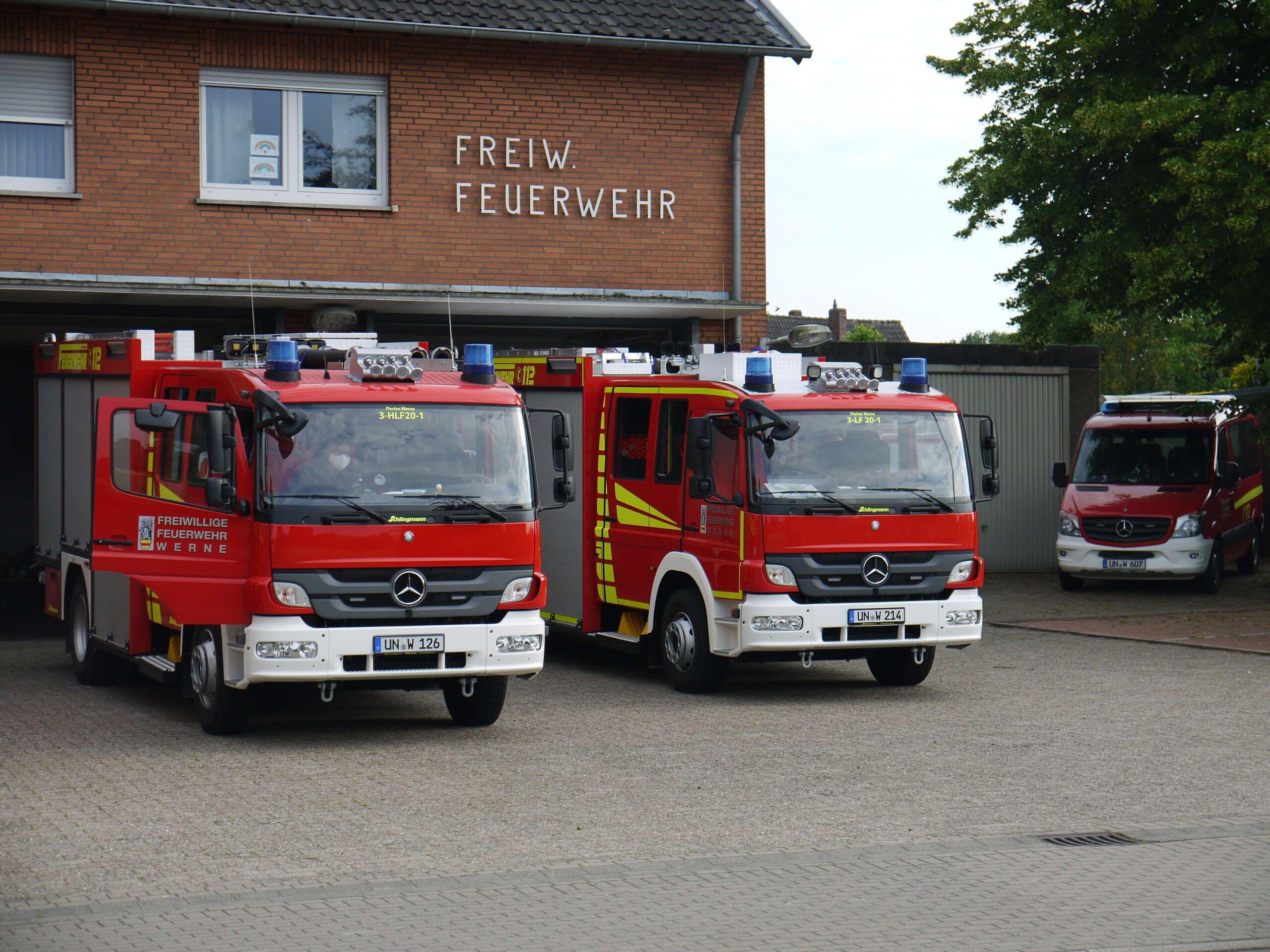 Der erste Dienstabend nach dem Löck Down fand im Gerätehaus des Löschzug 3, Stockum, statt. Foto: Feuerwehr Werne