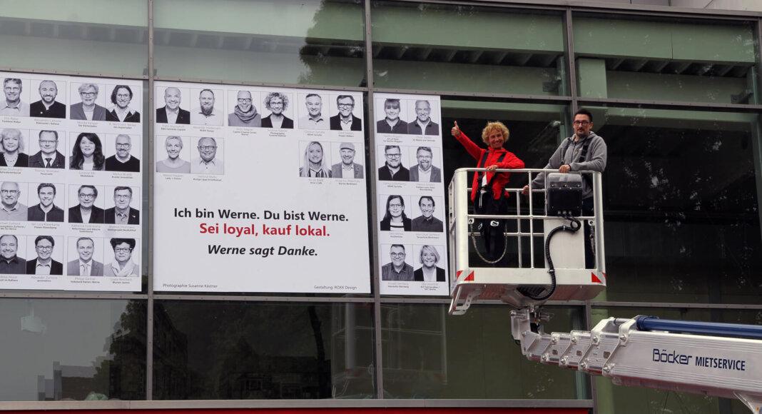 Susanne Kästner präsentierte stolz das Ergebnis ihrer Aktion