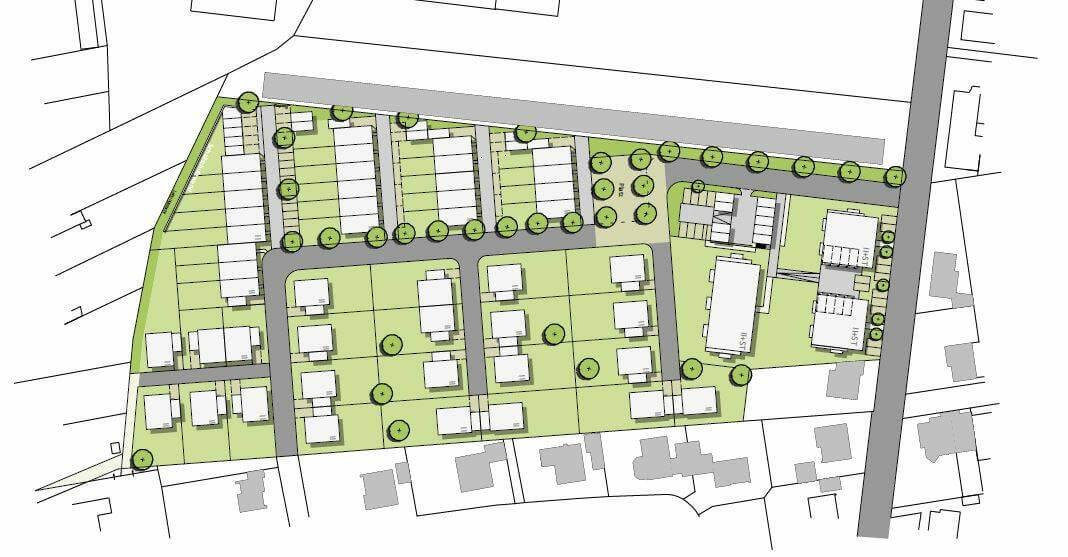 So sehen die Planungen im Baaken aus. Grafik: Stadt Werne