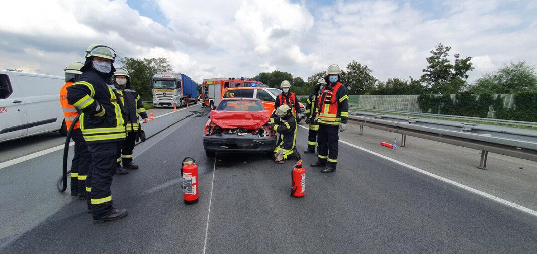Die Feuerwehr war am Freitagnachmittag auf der A1 im Einsatz. Foto: Feuerwehr Werne