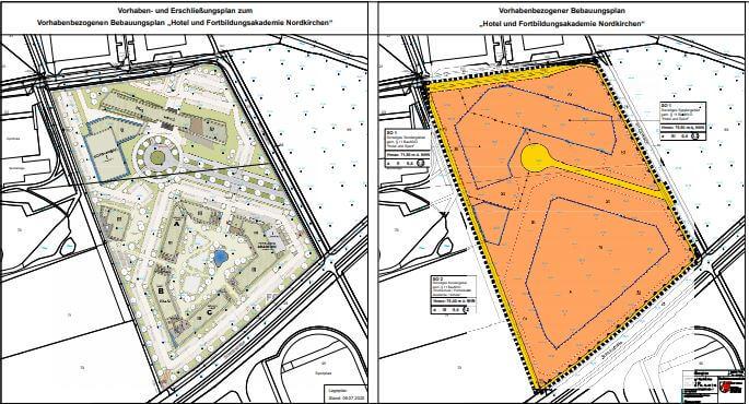 Hotel und Fortbildungsakademie sollen in Nordkirchen gebaut werden. Plan: Gemeinde Nordkirchen