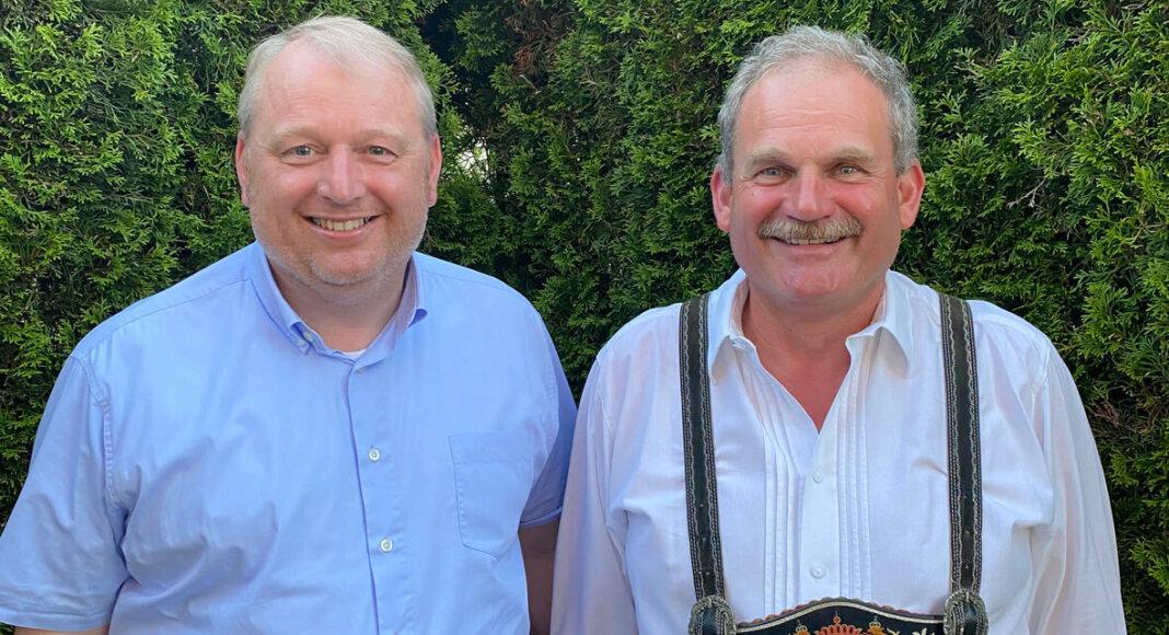 Toni Schmid und Markus Klenner sind seit vielen Jahren freundlich verbunden. Foto: Privat