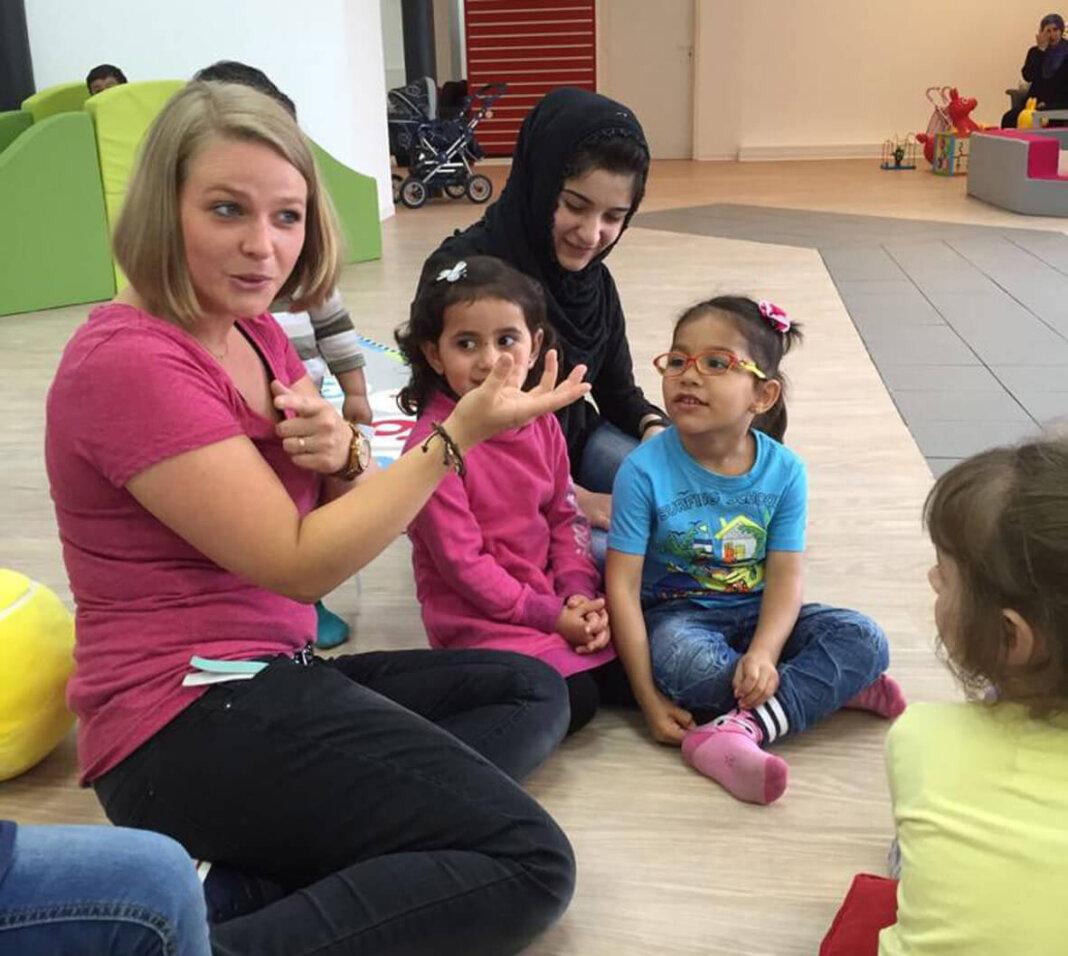 Christina Schmidt und ihr Team bereiteten zahlreiche Flüchtlingskinder in der