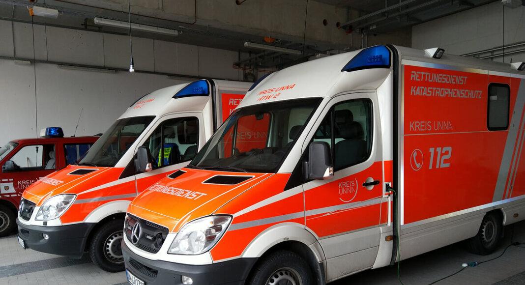 Rettungswagen der Leitstelle. Foto: Max Rolke – Kreis Unna