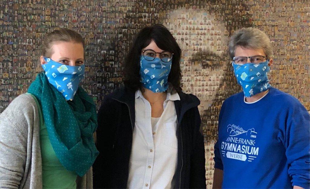 Kaja Bork (v.l.), Laura Parthe und Heike Armbrust engagieren sich in der Projektarbeit. Foto: AFG