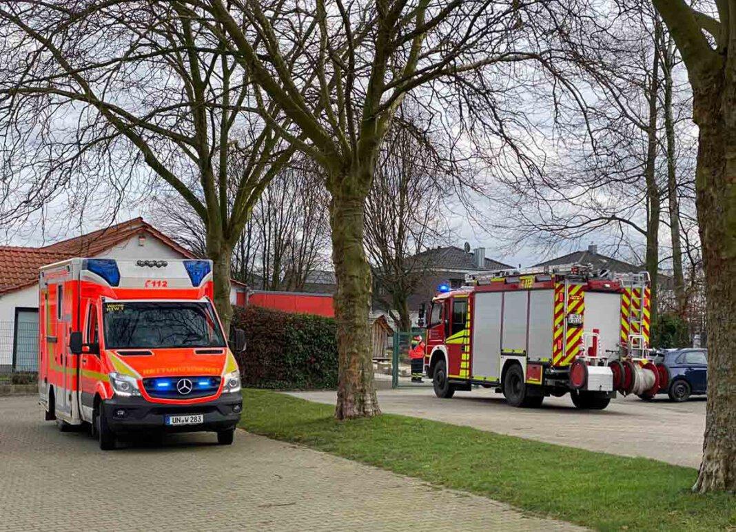 Die Feuerwehr Werne wurde am Donnerstag zur Kita Maria Frieden alarmiert - zum Glück ein Fehlalarm. Foto: Feuerwehr Werne
