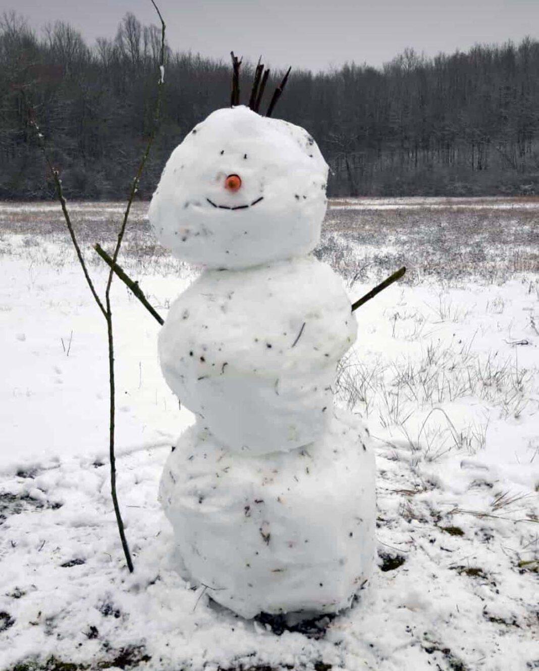 Schneemänner waren an diesem verschneiten Sonntag kurzzeitig sehr angesagt. Foto: Temme