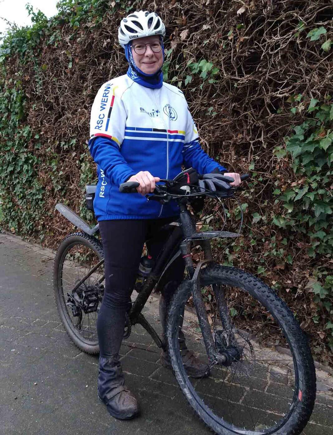 RSC-Touristikwartin Monika Biermann hatte am 31. Dezember 2020 411 Kilometer in acht Tagen zurückgelegt und die Challenge damit gemeistert. Foto: Biermann