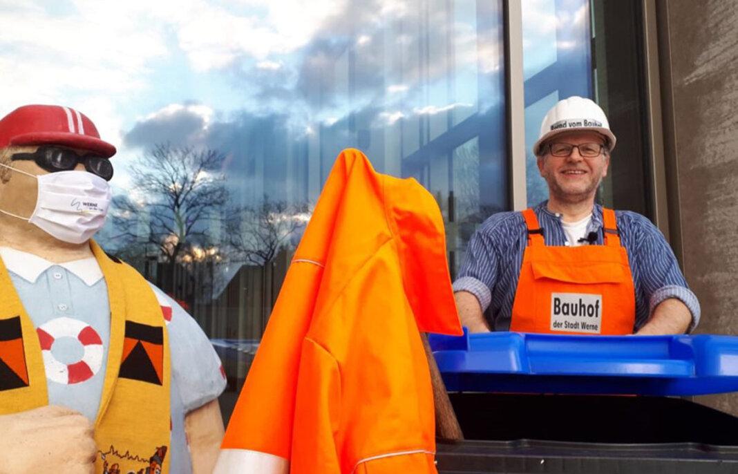 Bernd vom Bauhof: Die Büttenrede ist jetzt online bei YouTube zu sehen. Foto: Martin Döpker