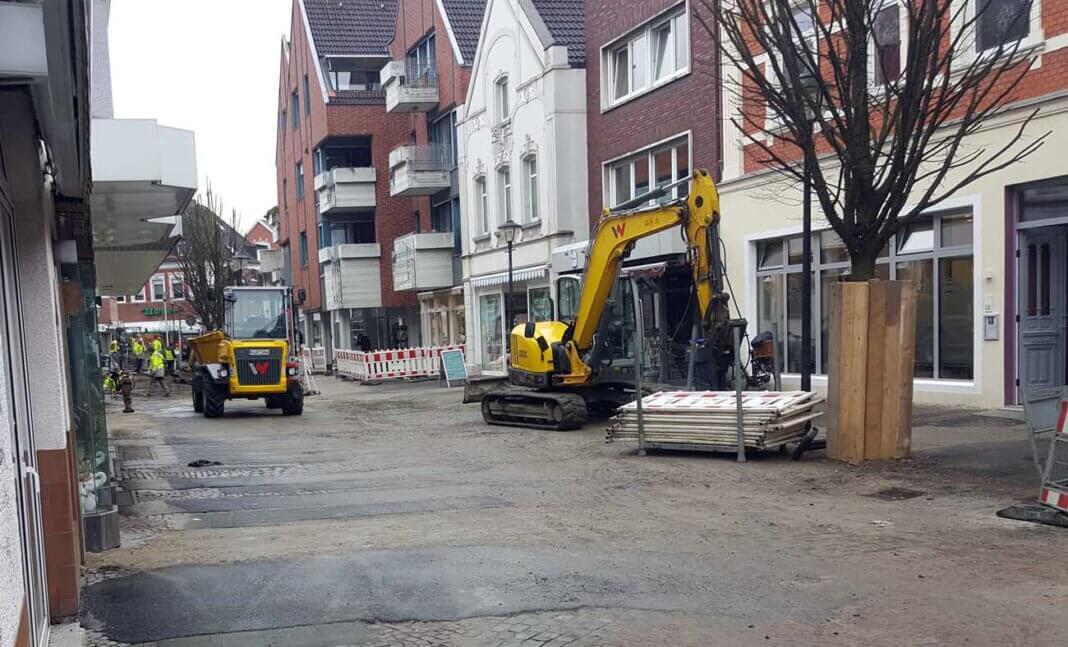 Die Arbeiten an der Bonenstraße sollen voraussichtlich im April 2021 abgeschlossen sein. Foto: Wagner
