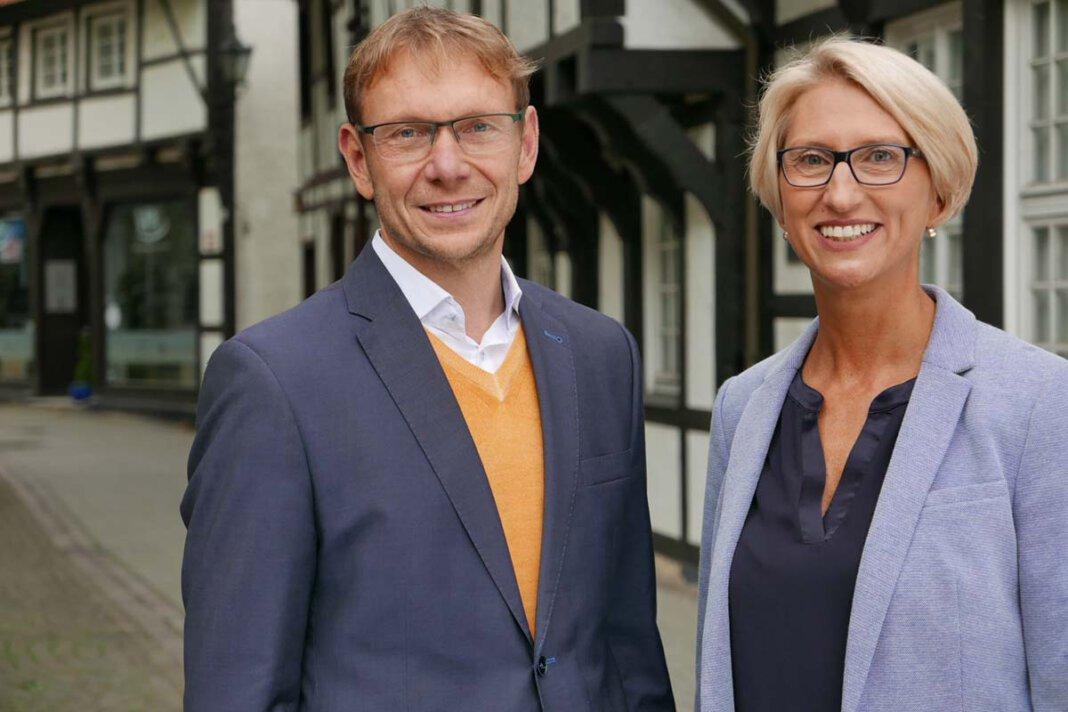 Bürgermeister Lothar Christ muss Wirtschaftsförderin Carolin Brautlecht nach 13 Jahren ziehen lassen - und ist auf Nachfolger-Suche. Foto: Nicole Friedrich / Werne Marketing
