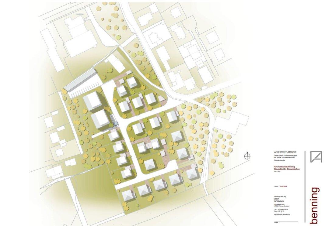 Der Übersichtsplan zum Baugebiet