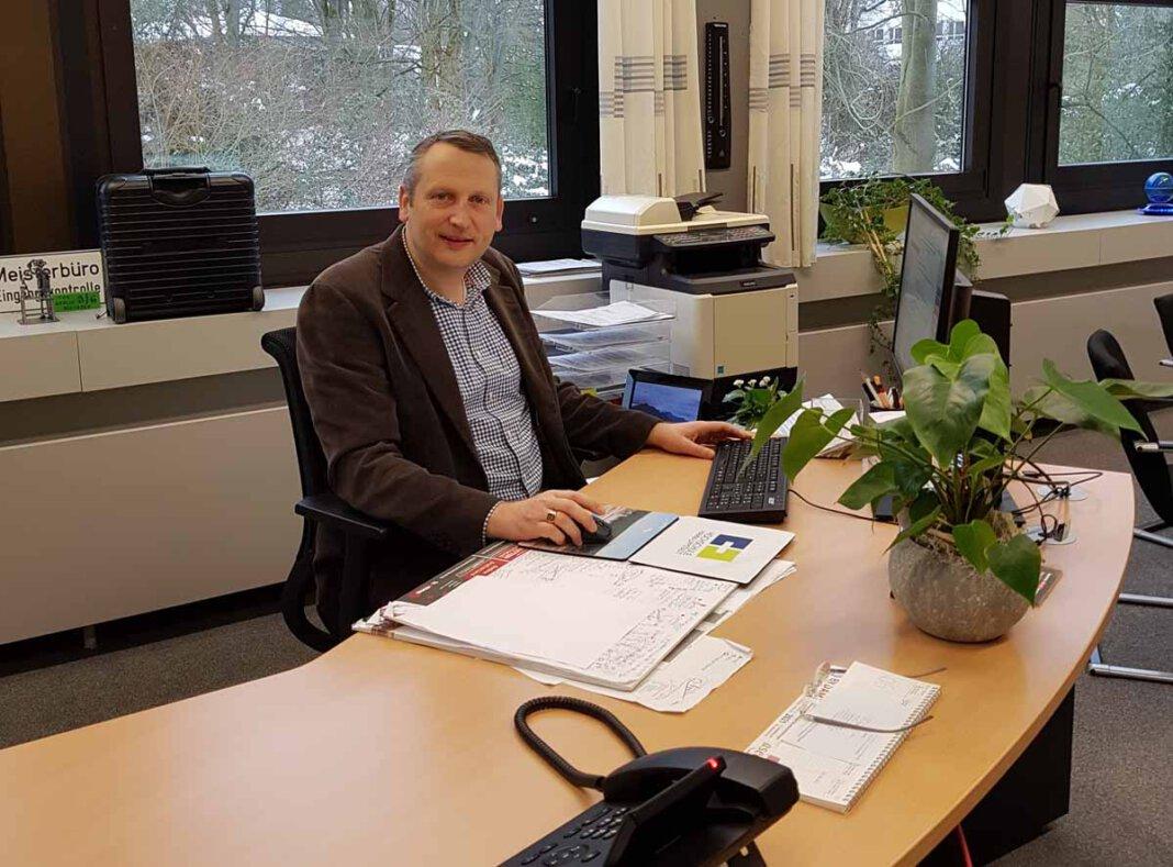 AFG-Leiter Marcel Damberg und sein Team bereiten sich auf den Hybrid-Unterricht ab dem 22. Februar vor. Foto: AFG