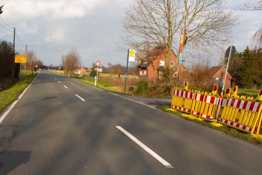 Die Forsthövel-Merschstraße wird am Montag und Dienstag voll gesperrt. Foto: Isabel Schütte