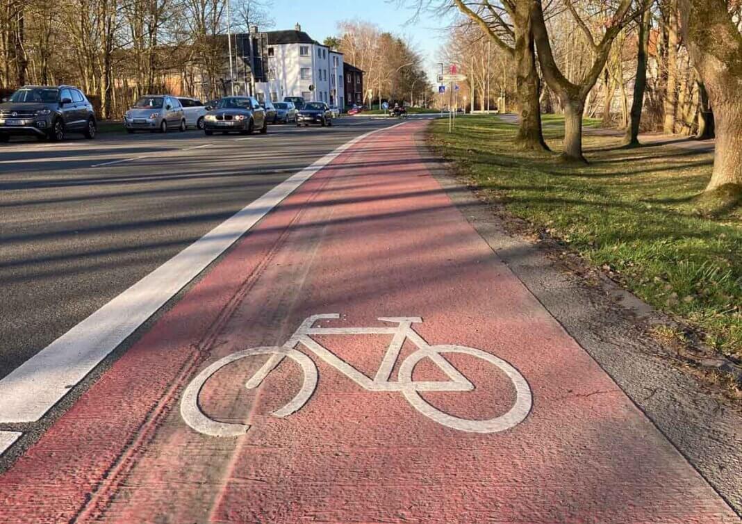 Auch die Markierung eines Radweges entlang der Münsterstraße (Steintor bis Kreisverkehr Becklohhof) konnte umgesetzt werden. Foto: Privat