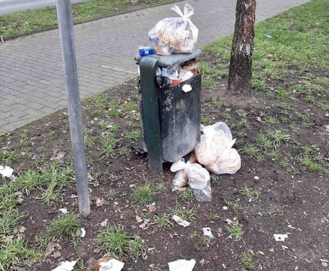 Übervolle Mülleimer wie hier am Goetheweg sind vielen ein Dorn im Auge. Die FDP will mit einem weiteren Antrag Abhilfe schaffen. Foto: FDP