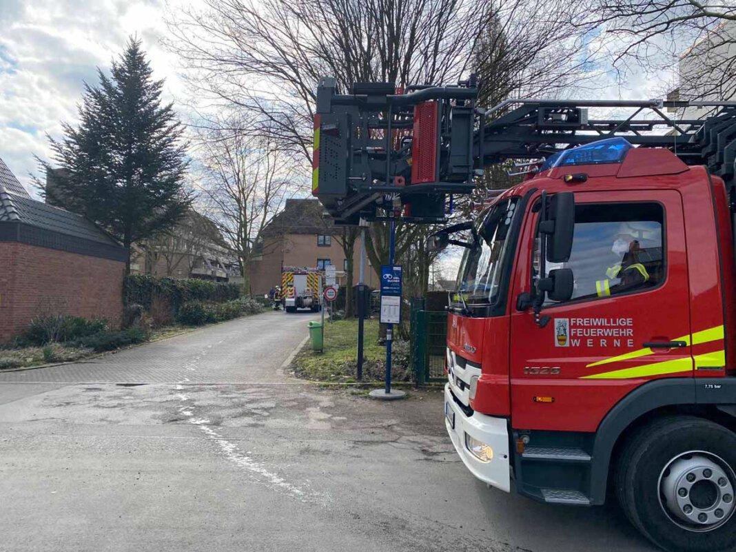 Die Brandmeldeanlage alarmierte die Feuerwehr Werne am Sonntagmittag zum Seniorenzentrum Antonius an der Ottostraße. Foto: Feuerwehr Werne