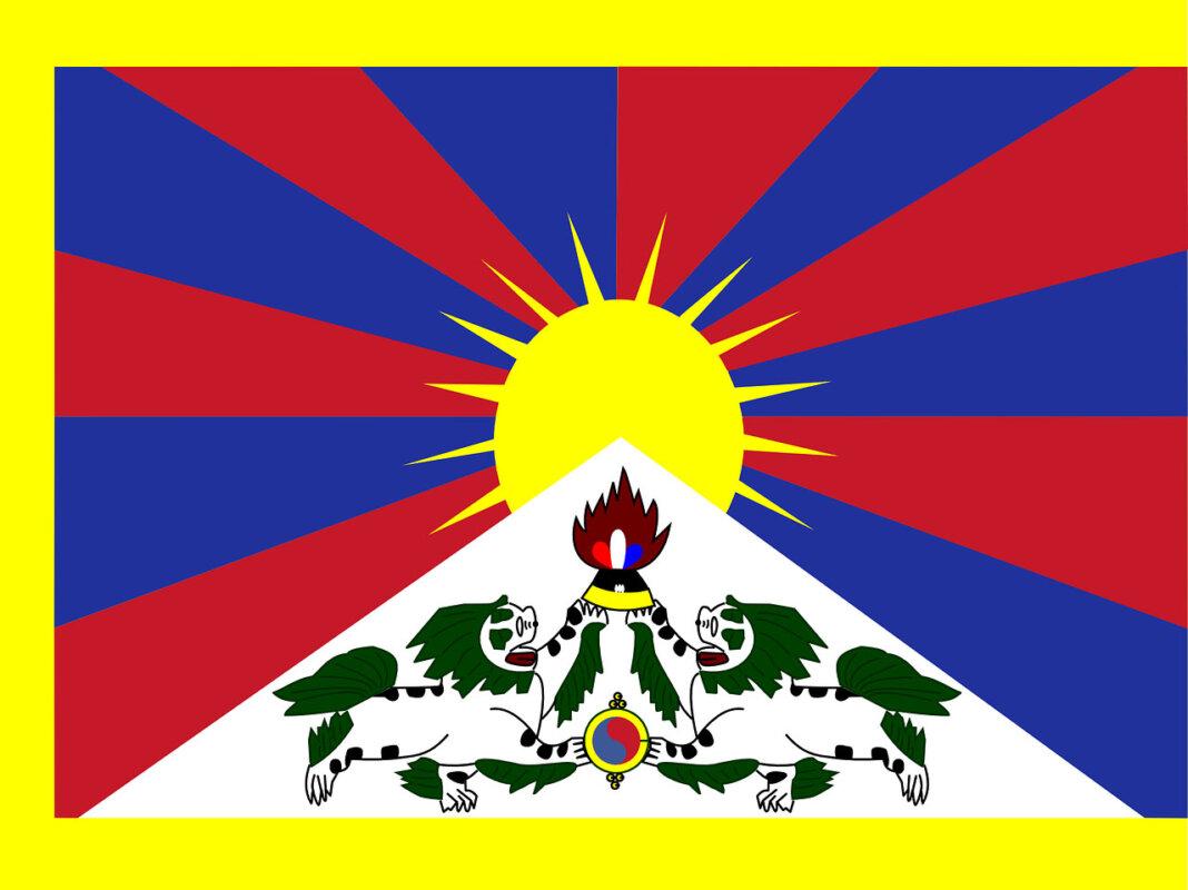 Die Flagge Tibets weht am 10. März als Zeichen der Solidarität am Stadthaus in Werne. Foto: pixabay