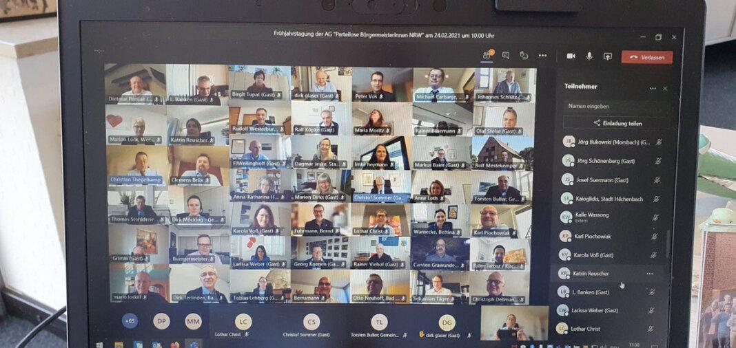 Zu einer digitalen Frühjahrstagung kamen die parteilosen Bürgermeister NRW zusammen. Foto: Stadt Werne