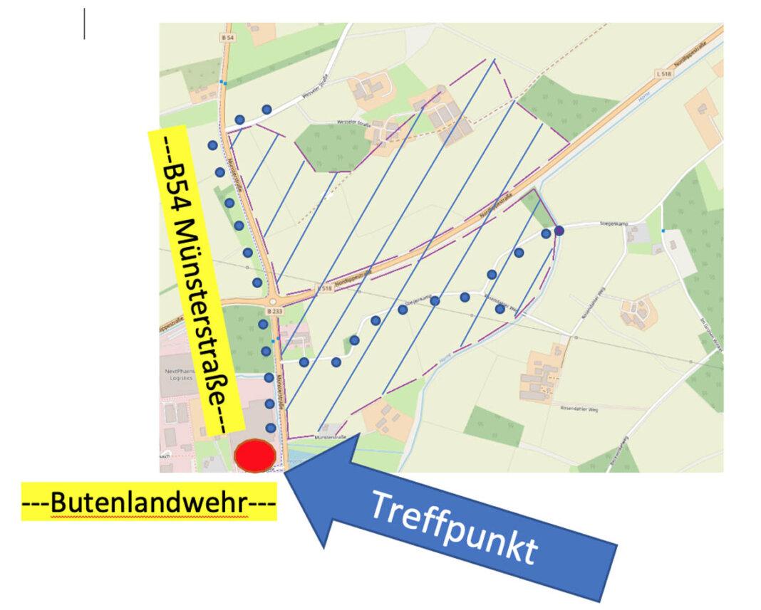 Der Protest bezieht sich nicht nur auf die von der Stadt Werne tatsächlich in die konkrete Planung übernommene 32 Hektar große Fläche nördlich der Nordlippestraße, sondern auch auf den südlichen Teilbereich des Kooperationsstandortes des Regionalverbandes Ruhr. Plan: Natürlich!Werne