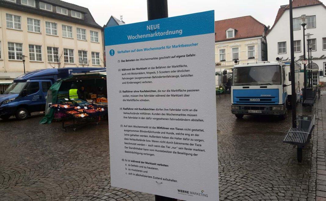 Eine neue Marktordnung gilt für den Wochenmarkt in Werne. Foto: Wagner