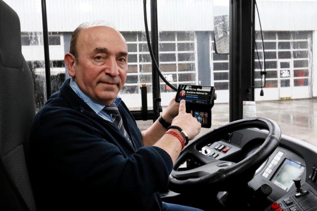 Mehmet Ötegen ist als Busfahrer regelmäßig auch in Werne unterwegs. Foto: Christoph Volkmer
