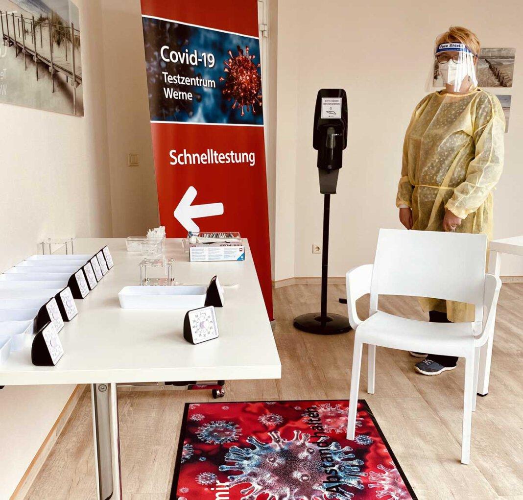 Beim Ambulanten und Palliativpflegedienst Constanze Jakubke können auch Schnelltests durchgeführt werden. Foto: Spellerberg