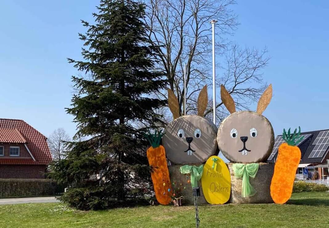 Die Kreisgemeinschaft erfreut die Menschen wieder mit einem schönen Ostergruß in Horst. Foto: Wagner