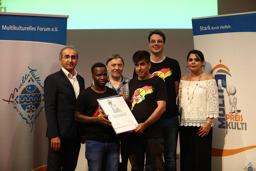 2019 nahmen Vertreter von Hockey United Werne den Anerkennungspreis in Düsseldorf entgegen. Foto: MKF