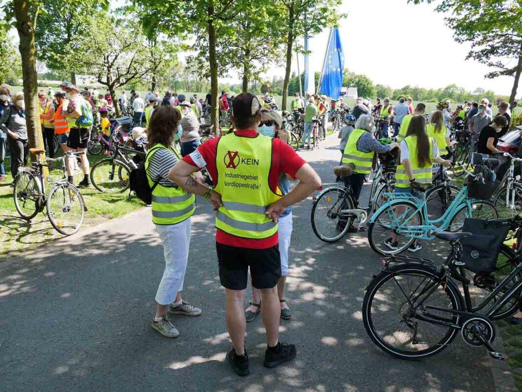 Zur bereits vierten Protest-Fahrradtour lädt die Bürgerinitiative am kommenden Sonntag ein. Foto: Gaby Brüggemann