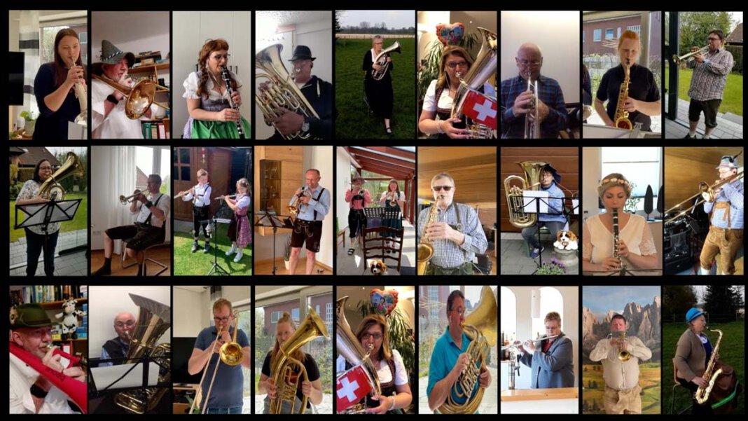 """Während eines ZOOM-Onlinetreffens im April beschlossen die Musiker dann, ein drittes Videoprojekt anzugehen, um den Mitmenschen weiter Hoffnung zu geben und ein Lächeln ins Gesicht zu zaubern. Sie nahmen gemeinsam das Stück """"Heidi"""