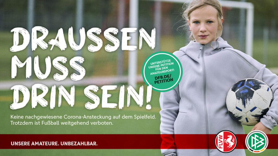 Eine Wiederaufnahme des Trainings- und Spielbetriebs unter freiem Himmel fordern die Sportverbände DFB und DOSB. Foto: FLVW