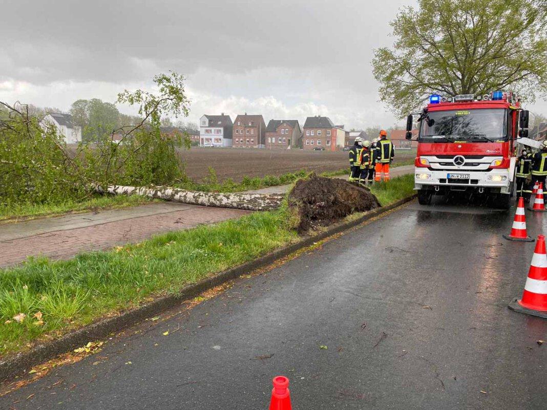 Der Löschzug 1 Stadtmitte der Freiwilligen Feuerwehr Werne wurde per digitalem Meldeempfänger mit dem Stichwort