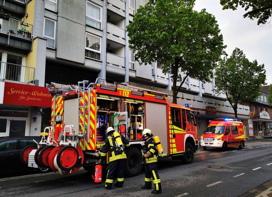 Der Brand im Sicherungskasten eines Mehrparteienhauses war schnell mit einem CO2-Löscher gelöscht. Foto: Feuerwehr Werne