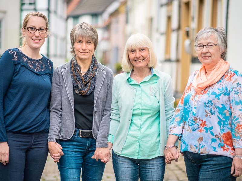 Das Team der K.I.S.S. (von links) mit Thekla Pante, Lisa Nießalla, Margret Voß und Elke Rogalla. Archivfoto: D. Treu - Kreis Unna