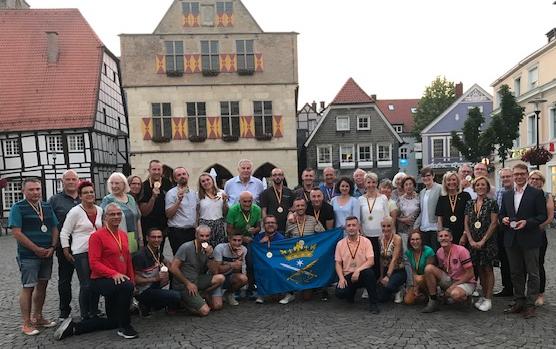 Letztmals trafen sich Aktive aus den Partnerstädten beim Stadtlauf 2019 in Werne. Archivfoto: Viefhues