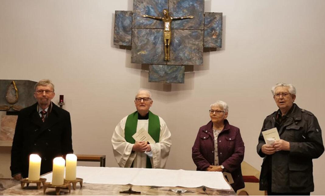 Unter besonderen Bedingungen fand diesmal die Plattdeutsche Maiandacht der Kolpingsfamilie statt. Foto: Benno Jäger