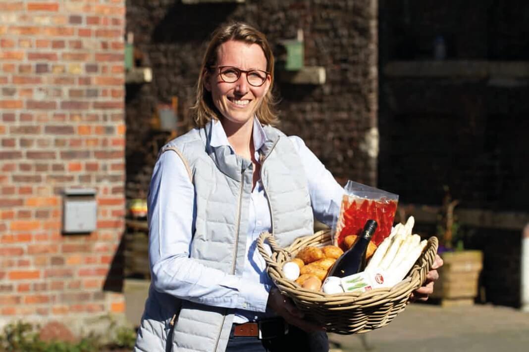 Auch Claudia Bleckmann kann auf dem Blumen- und Spargelmarkt ihre Waren nicht anbieten. Die Veranstaltung wurde abgesagt. Foto: Isabel Schütte