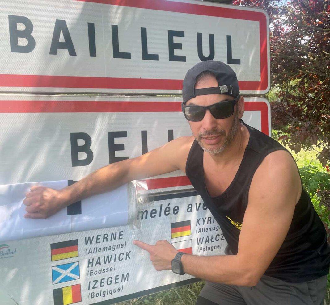Riaud David ging in Wernes Partnerstadt Bailleul (Frankreich) an den Start. Foto: Privat
