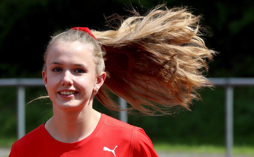 Leichtathletin Ida Lefering ist selbst in Coronazeiten auf der Überholspur unterwegs. Foto: Volkmer