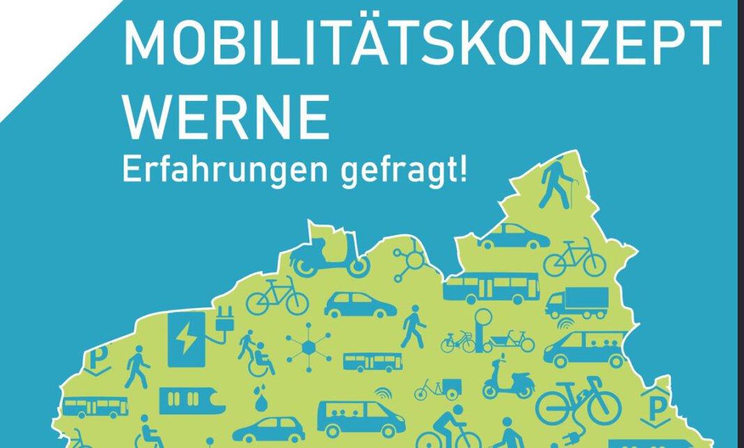 Zum Mitmachen für das Mobilitätskonzept lädt die Stadt Werne ein. Grafik: Stadt Werne