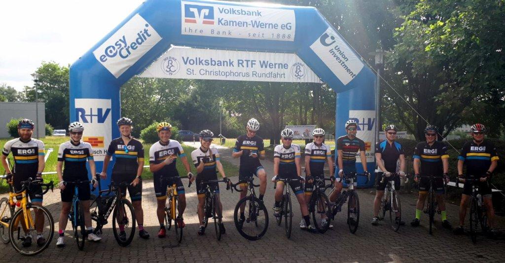 Über 300 Radsportler/innen freuten sich, wieder in Werne an den Start gehen zu dürfen. Foto: RSC