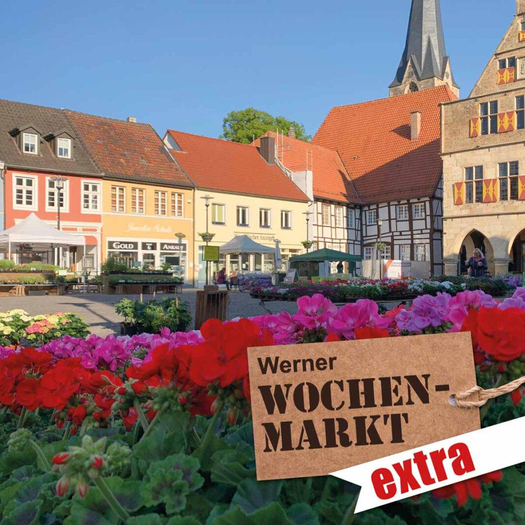 Blumen und Spargel dominieren am morgigen Samstag, 12. Juni, den Werner Wochenmarkt Extra. Foto: Werne Marketing