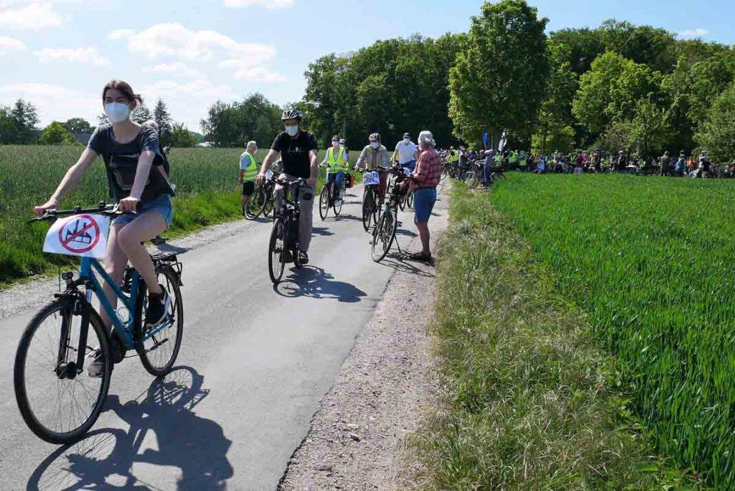 Die Bürgerinitiative lädt am kommenden Sonntag zur dritten Protest-Radtour ein. Derweil laufe die Unterschriftensammlung sehr gut, so der BIN-Vorstand. Archivfoto: Gaby Brüggemann