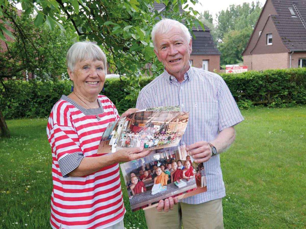 Jutta und Bruno Gimmel engagierten sich jahrzehntelang für Kinder in Myanmar. Foto: Gaby Brüggemann