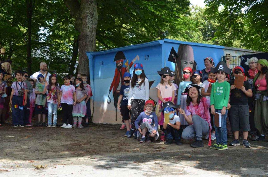 Kinder der OGS Viktoria nahmen an einer Piratenausbildung teil. Foto: Stadt Lünen